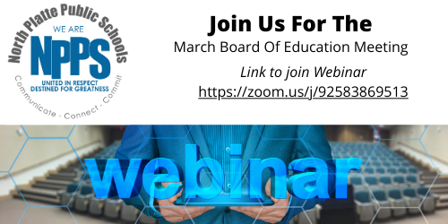 March Board Meeting Webinar Information